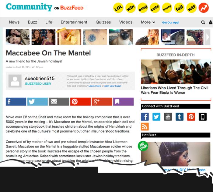 Buzzfeed-Maccabee-On-The-Mantel