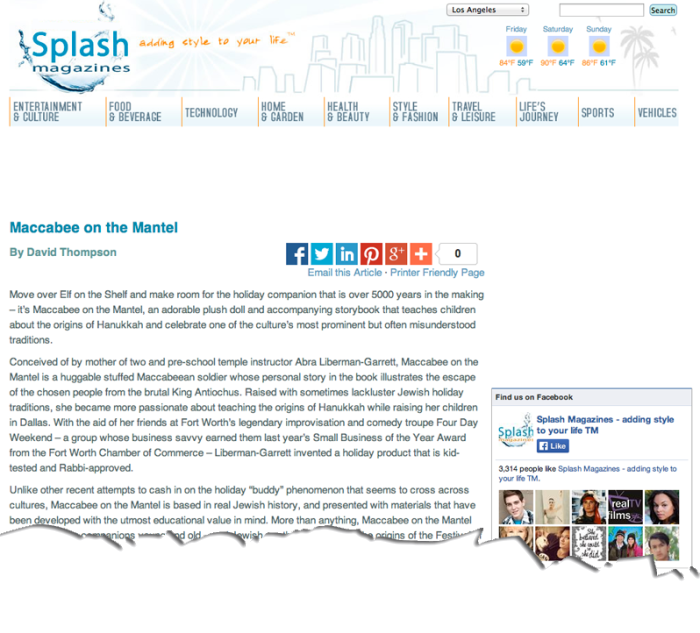 Splash-Magazine-Maccabee-On-The-Mantel