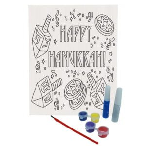 Happy Hanukkah Canvas Paint Set |