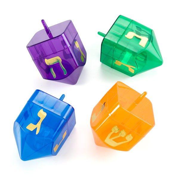 color plastic refillable dreidels