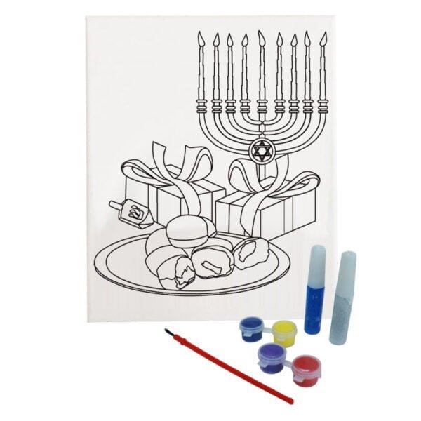 DIY Canvas Paint Set | Hanukkah DIY Canvas Paint Set | %%sitename%%