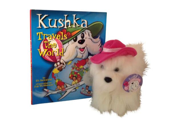 Kushka Travels the World book and plush