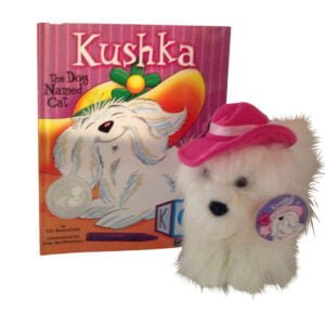 Kushka the Dog Named Cat book and plush scaled