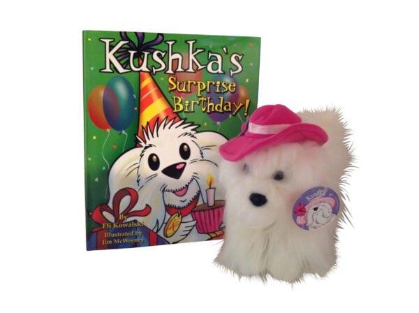 Kushka's Surprise Birthday book and plush toy