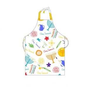 Cooking Apron | Chag Sameach Hanukkah Large Adult Apron | Toyveytoys