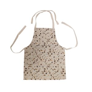 "Child's Matzah Print Apron 14.5"" x 19"" with adjustable neck straps"