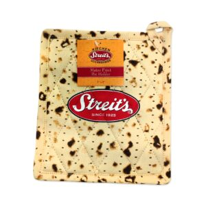 Streit's Matzo Man and Matzo Print Pot Holder