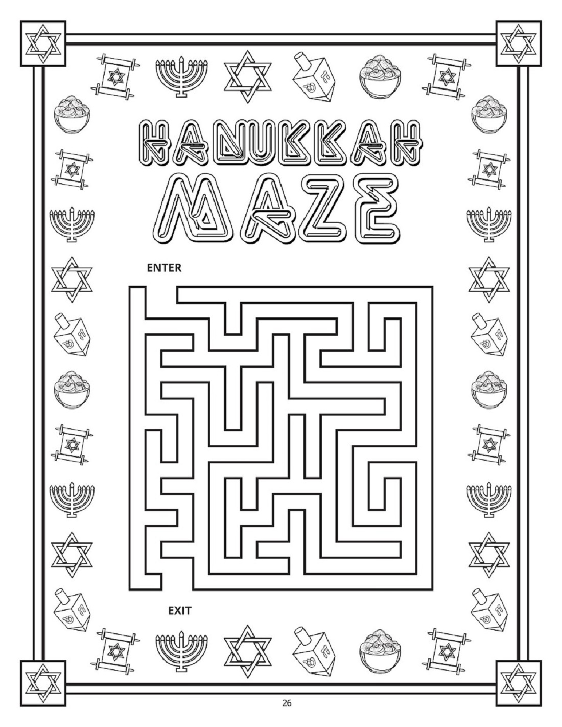 Maccabee S Hanukkah Coloring Book Toy Vey Toys
