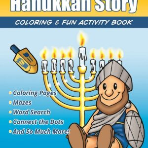 Maccabees Hanukkah Story Fun Activity Coloring Book