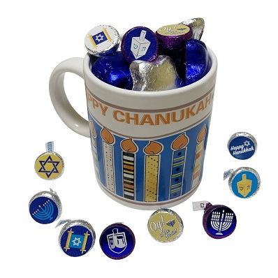 Ceramic Coffee Mug   Chanukah Themed  