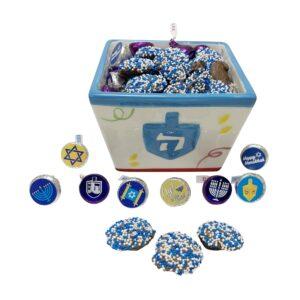 Hanukkah Candy Dish | DREIDEL CERAMIC CANDY |