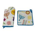Hanukkah oven mitt and pot holder